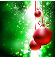 Christmas and New Years background vector image vector image
