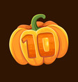 pumpkin icon for slot game vector image vector image