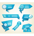 Set of blue progress version step icons eps 10 vector image