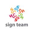 concept icon team vector image