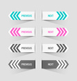 Previous and next buttons vector image