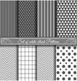 Set of black white Pattern vector image