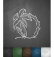 palm tree and two surfboards icon Hand drawn vector image