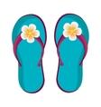 blue beach flip flops graphic vector image