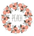 floral pattern with wreath from peach vector image