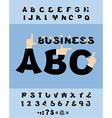 Business Hand font Pointing finger alphabet vector image