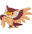 Cartoon funny owl bird posing vector image