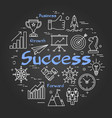 chalk board concept - success vector image