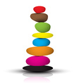 Colorful Zen Stones - Pebbles Heap Isolated on vector image