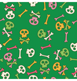 Cute seamless pattern with skulls vector image