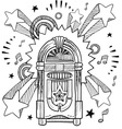Doodle pop jukebox music vector image