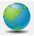 globe with wold map on transparency grid - vector image