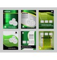 Graphic Design Layout template for flyer vector image