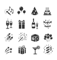 Icons set Birthday and Celebration vector image