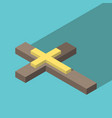 isometric christian cross vector image