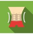 Men athletic torso icon flat style vector image