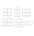 objects windows set vector image