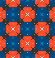 Pattern squares stars vector image