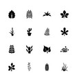 plants - flat icons vector image