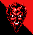 red devil face vector image