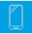 Smartphone thin line icon vector image