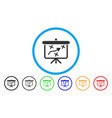 strategy path demonstration board rounded icon vector image