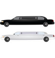 two limos vector image