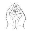 Two open empty hands asking gesture vector image