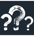Set of 3 original hand-painted question symbol vector image