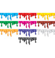 Colorful Paint Dripping Set vector image