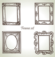 Frame set hand drawn vector image