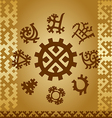 Patterns of northern Finno Ugric tribes vector image
