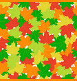 maple leaves seamless pattern flat style vector image
