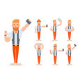 selfie geek hipster casual character icons set vector image