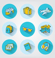 flat travel icons for web and mobile applications vector image