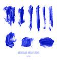 navy blue indigo watercolor brush stroke texture vector image