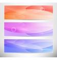 banner design set vector image vector image
