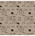 hipster accessories pattern vector image