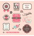 Valentines day Elements labels and frames Vintage vector image