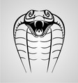 King Cobra Head vector image