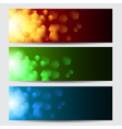 Glowing colorful christmas banners vector image vector image
