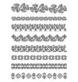 Kazakhstan traditional embroidry vector image