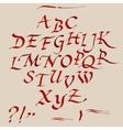 Hand drawn marker artistic font vector image