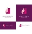 Beauty salon square logo vector image vector image