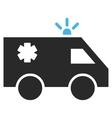 Ambulance Car Flat Pictogram vector image