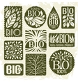 Bio and natural product Set of labels vector image