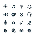 dj icons set vector image