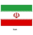 Flag of the country iran vector image