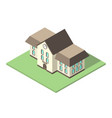 isometric school flat design vector image