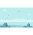 Landscape hill with fog for game backgrounds vector image